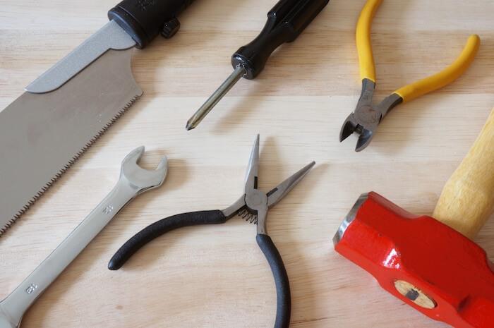 いろいろな工具の画像