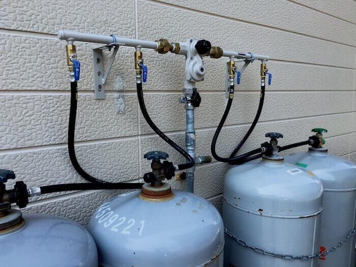 プロパン(LP)ガスのボンベ